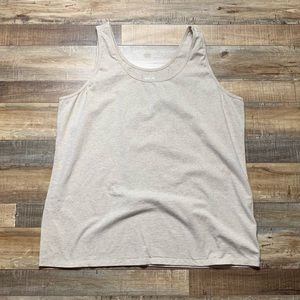 Maurices Plus Size Basic Tank Top Oatmeal Size 3X
